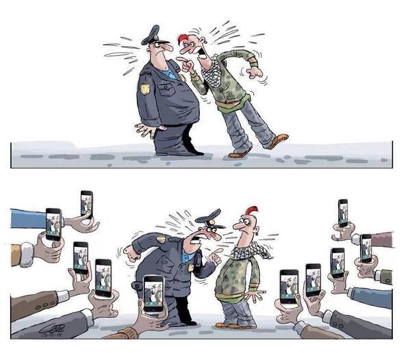 En liten fejd med polisen
